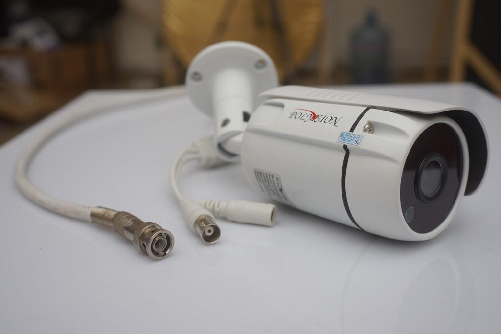 разъемы на кабеле и камере, AHD или IP видеонаблюдение что лучше